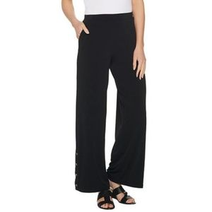 Susan Graver Regular Liquid Knit Wide-Leg Pants 85